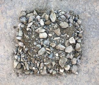 Gebroken betonpuin